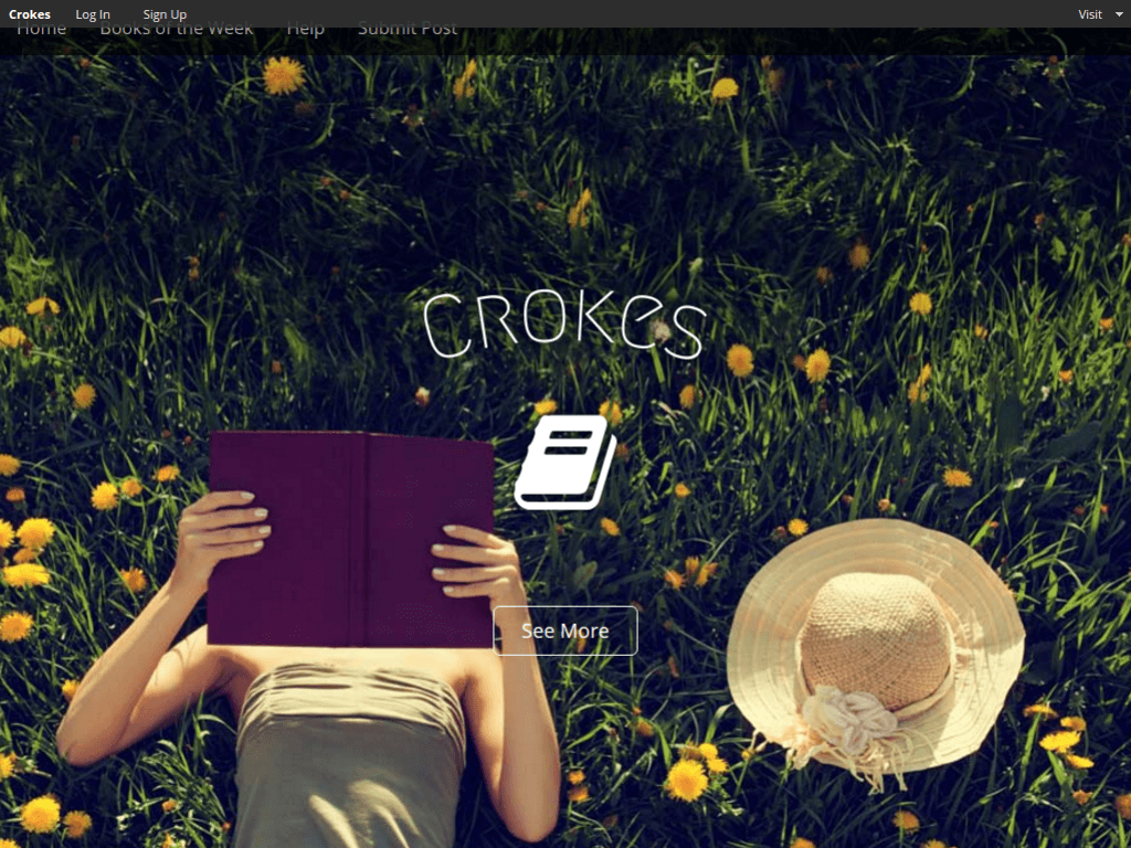 Homepage screenshot of Crokes